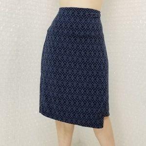 Athleta navy/blue faux wrap skirt